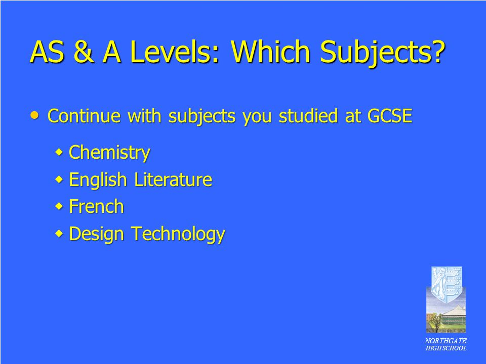 AS & A Levels: Which Subjects