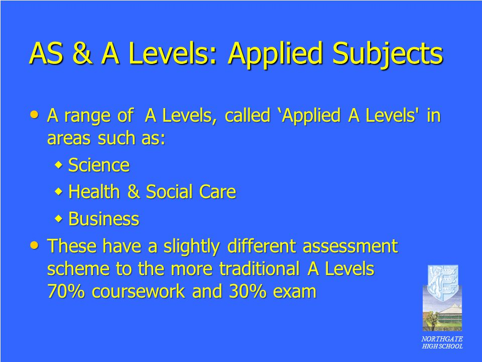 as level applied science coursework Applied science btec extended diploma (level 3 why study btec applied science employers highly value the skills gained by science students how is the course.