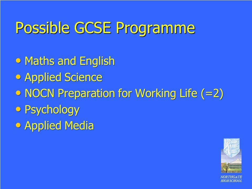 Possible GCSE Programme