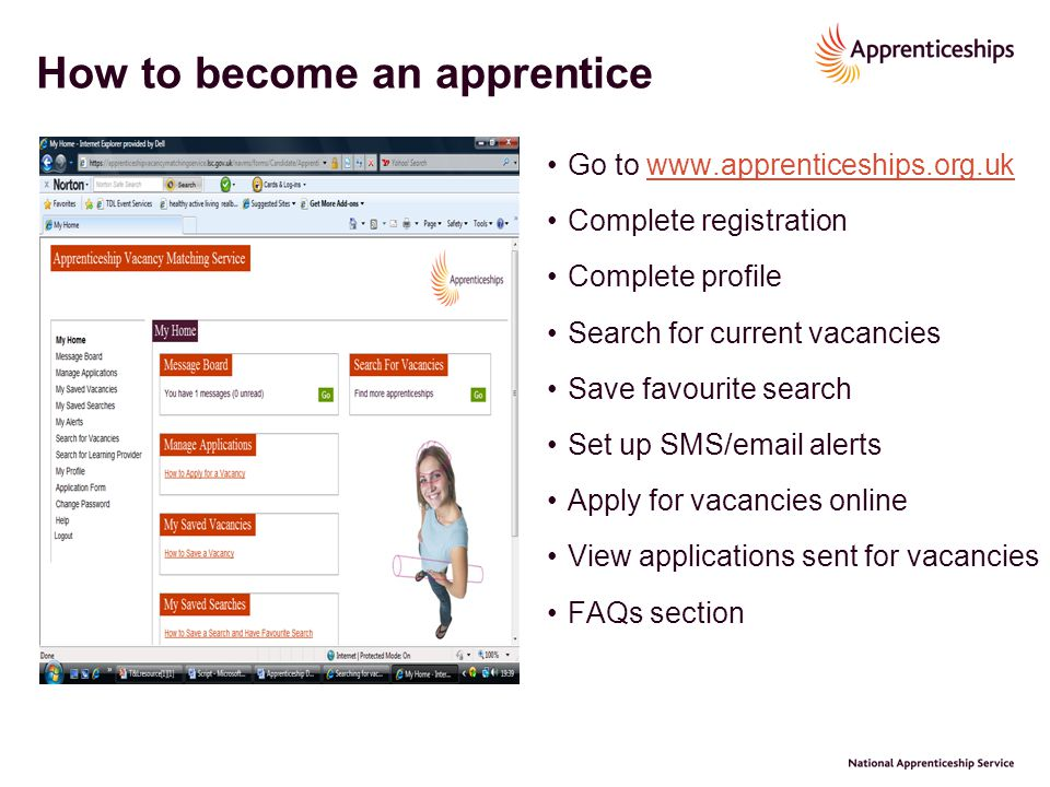 How to become an apprentice
