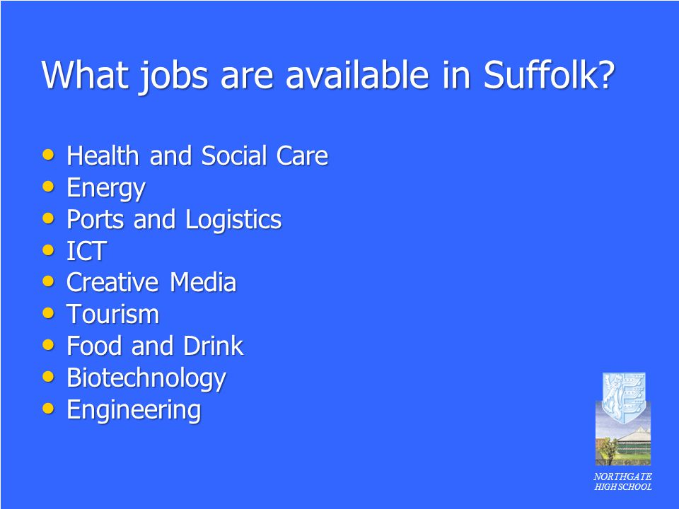 What jobs are available in Suffolk