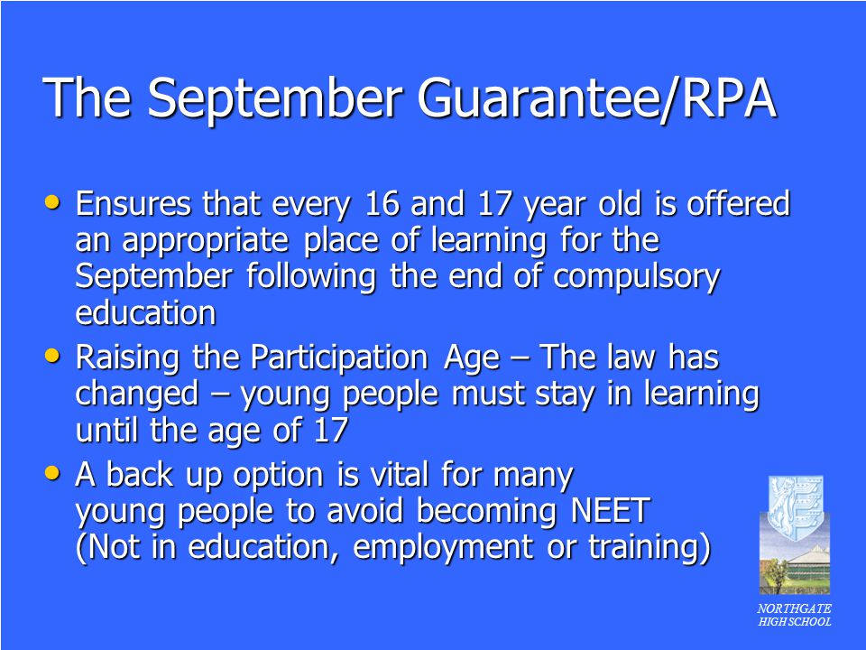 The September Guarantee/RPA