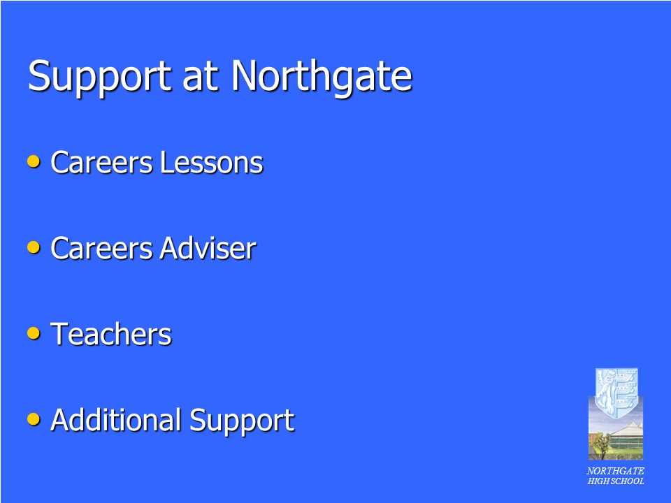 Support at Northgate Careers Lessons Careers Adviser Teachers