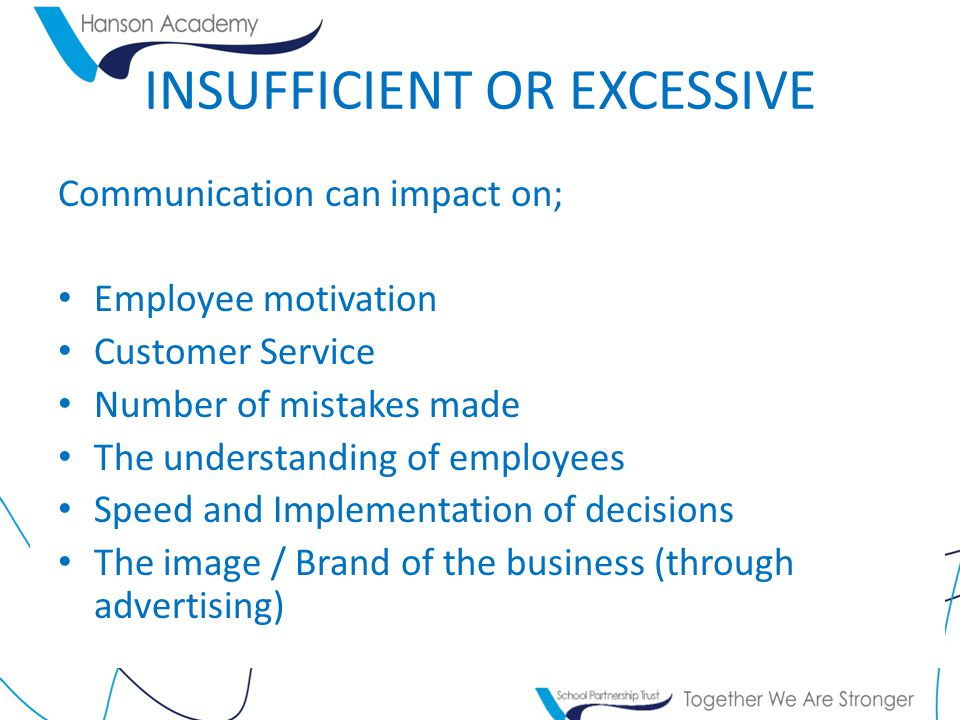 INSUFFICIENT OR EXCESSIVE