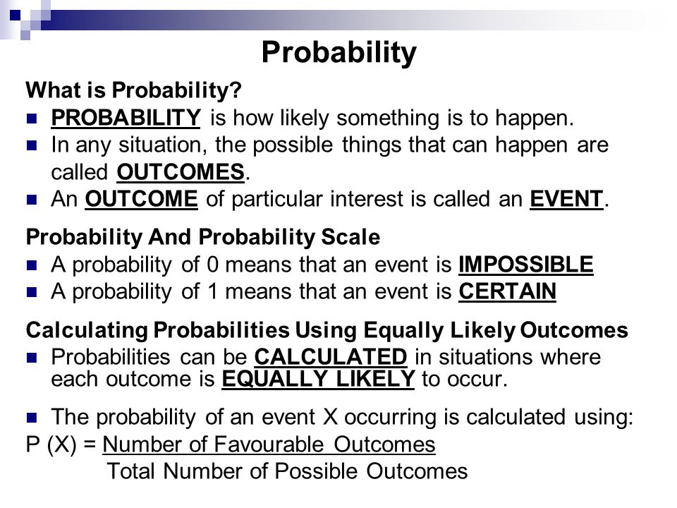 Probability What is Probability