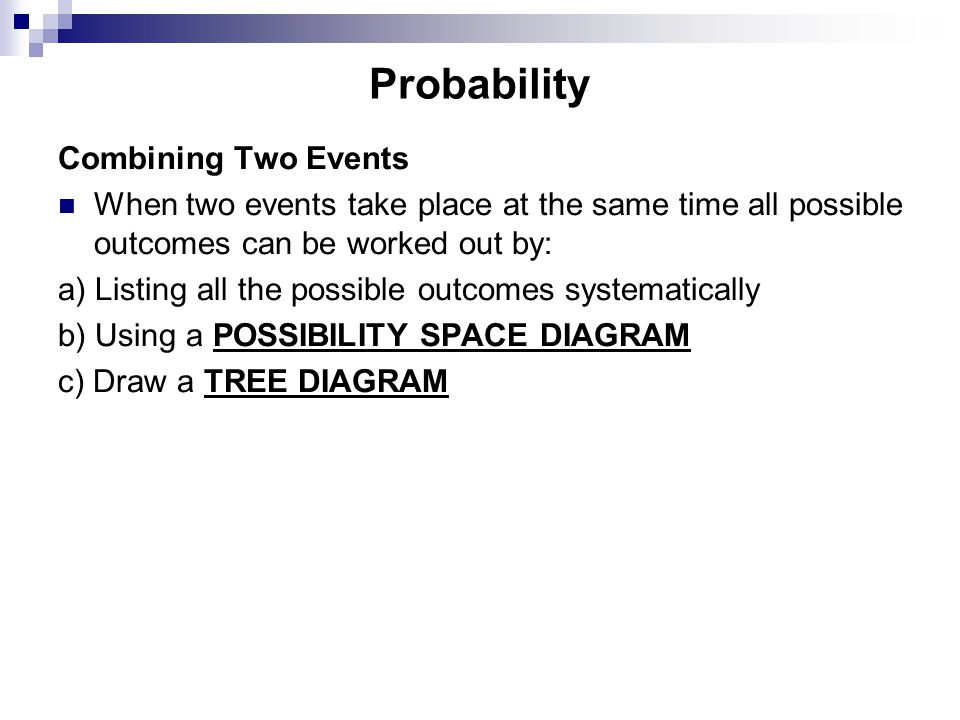 Probability Combining Two Events