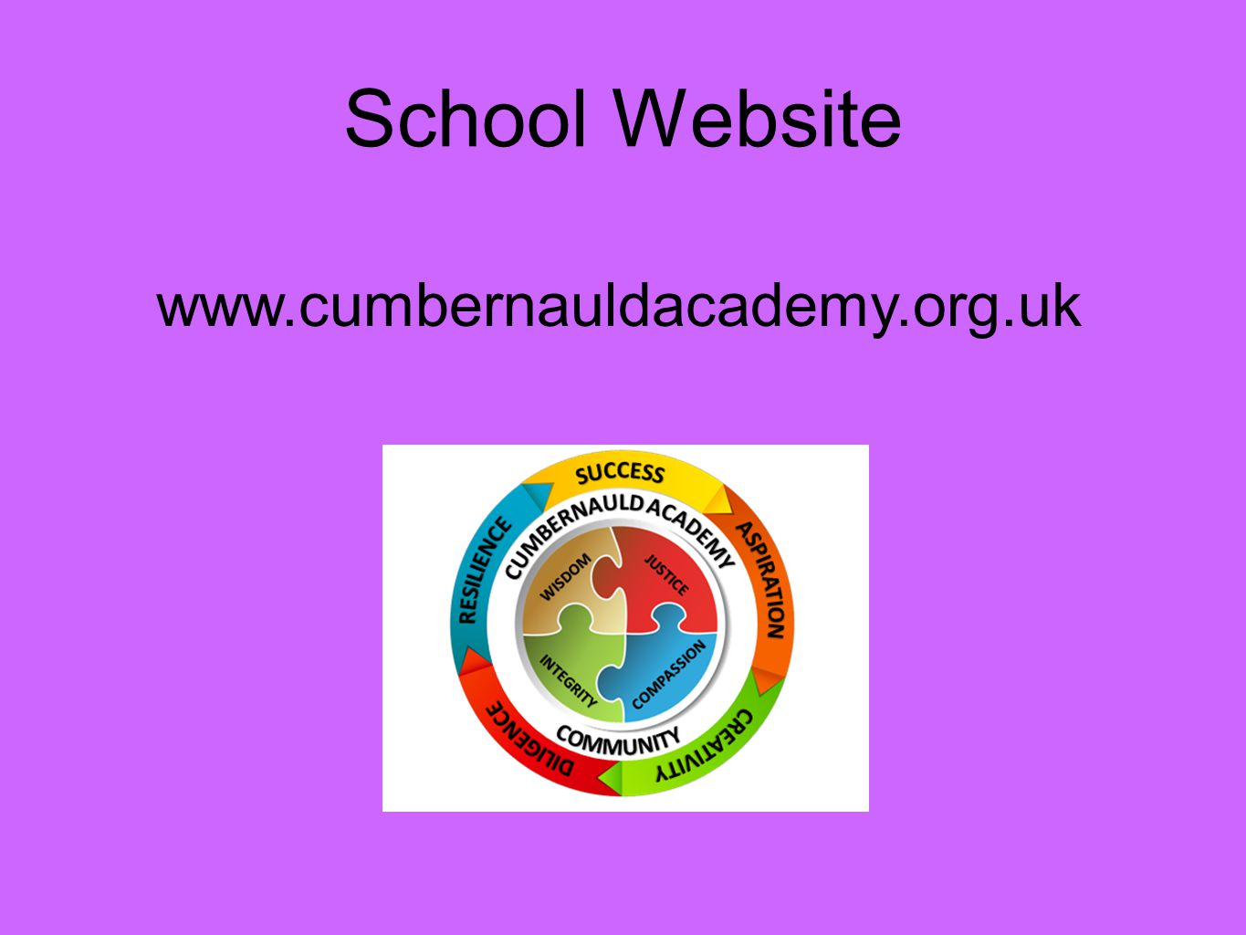 School Website www.cumbernauldacademy.org.uk
