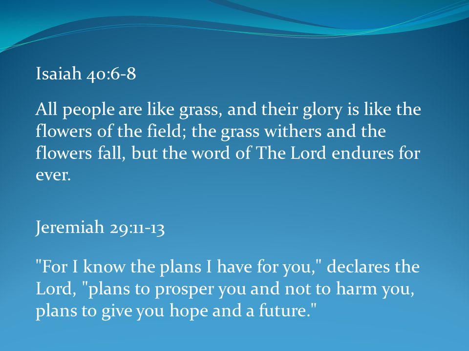 Isaiah 40:6-8