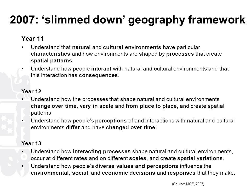 2007: 'slimmed down' geography framework