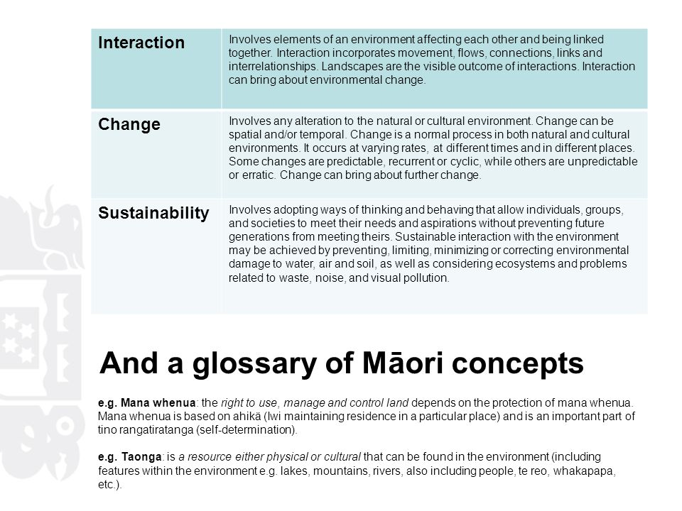 And a glossary of Māori concepts