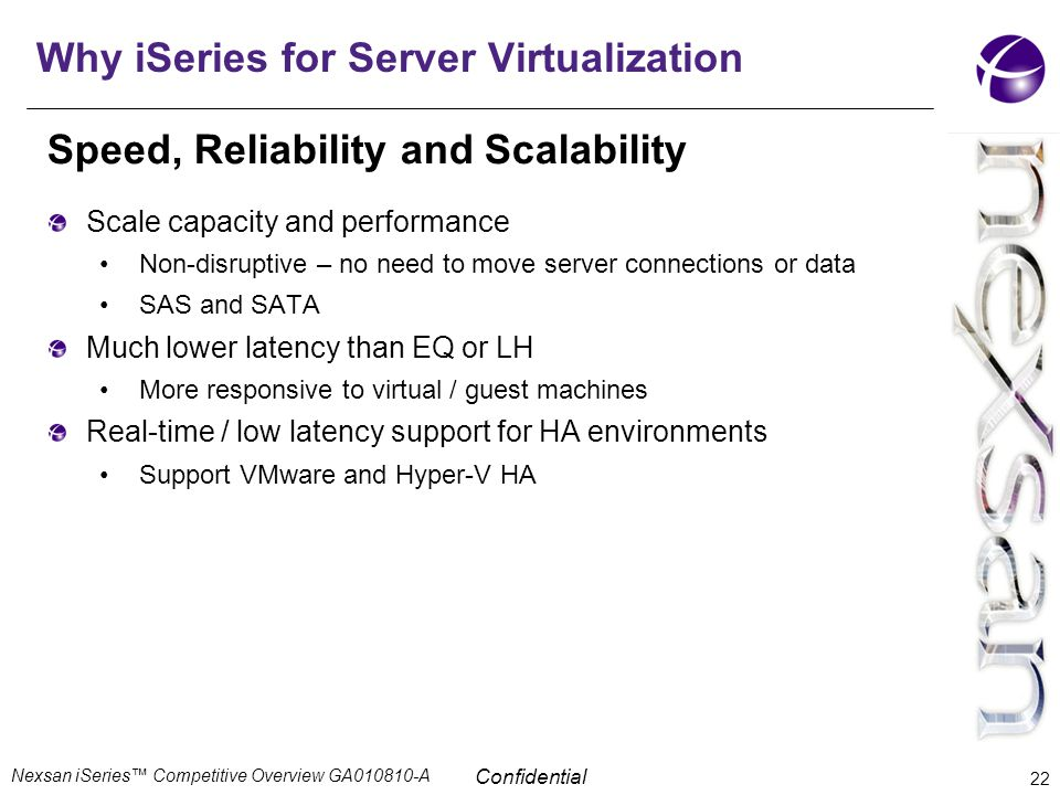 Why iSeries for Server Virtualization