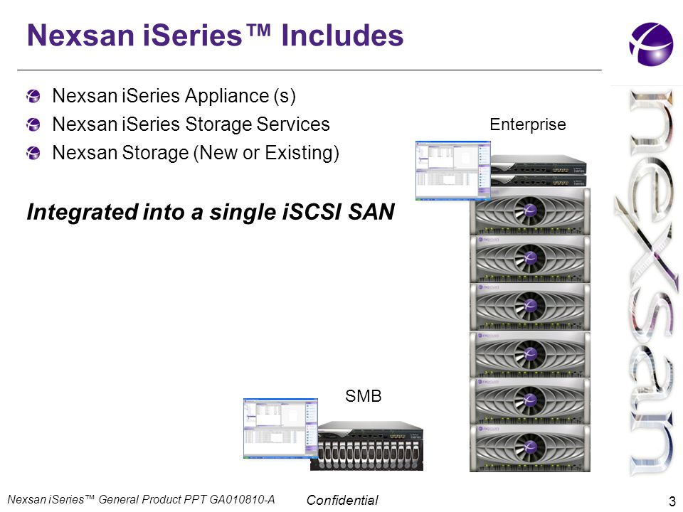 Nexsan iSeries™ Includes