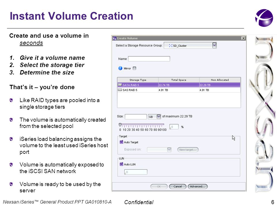 Instant Volume Creation