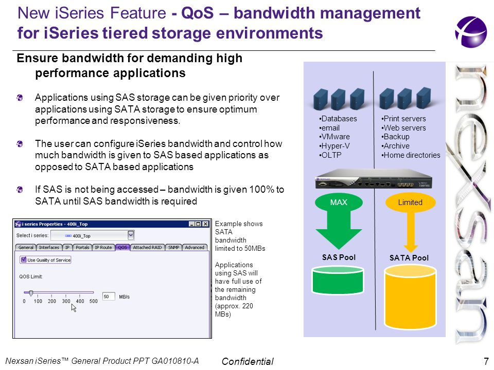 New iSeries Feature - QoS – bandwidth management for iSeries tiered storage environments