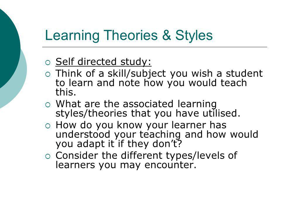 Learning Theories & Styles