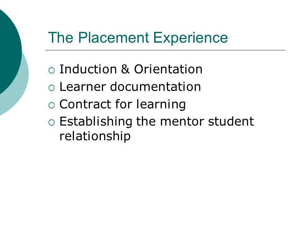 The Placement Experience