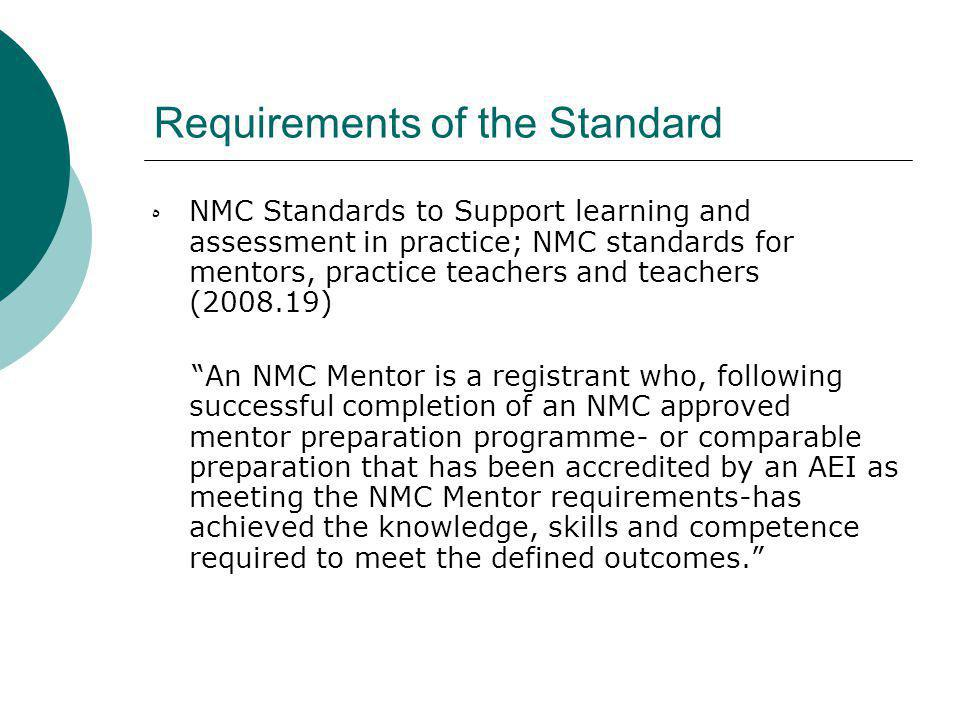 Requirements of the Standard