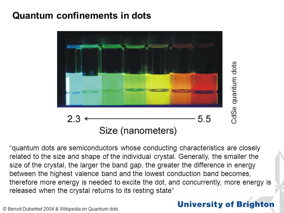 Quantum confinements in dots
