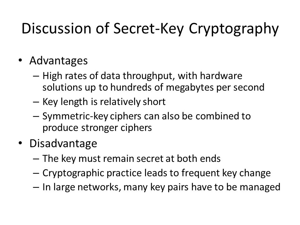 Discussion of Secret-Key Cryptography