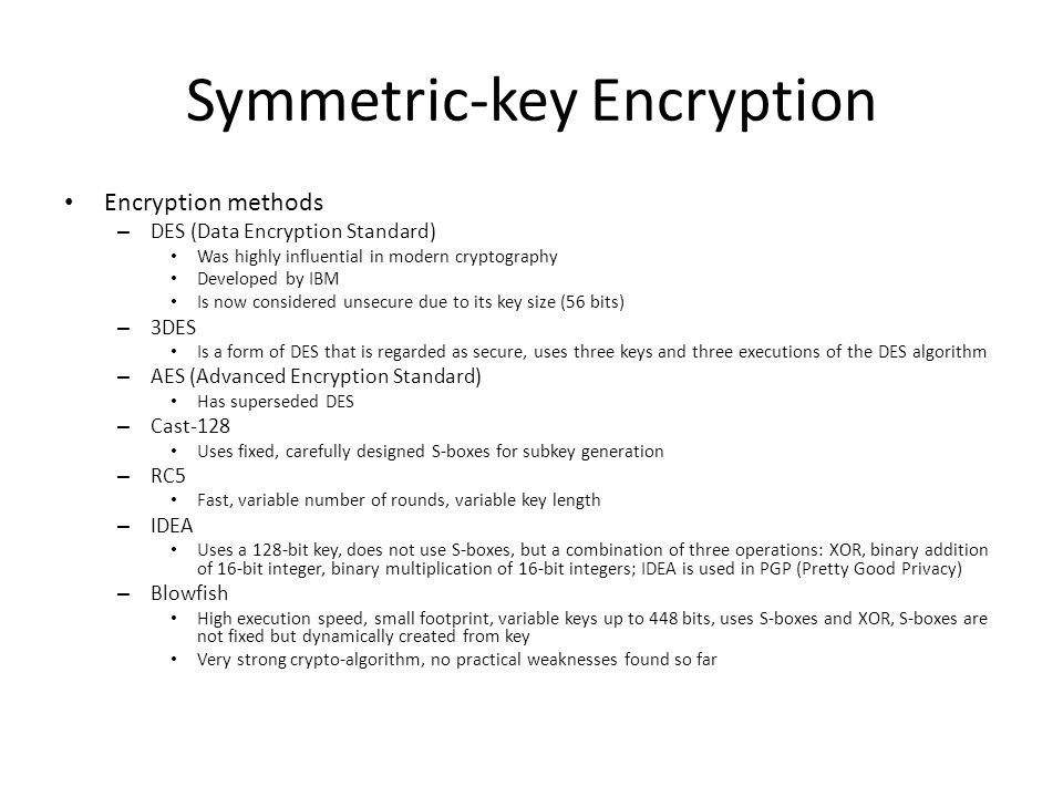 Symmetric-key Encryption