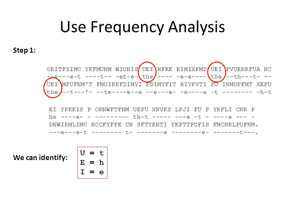 Use Frequency Analysis