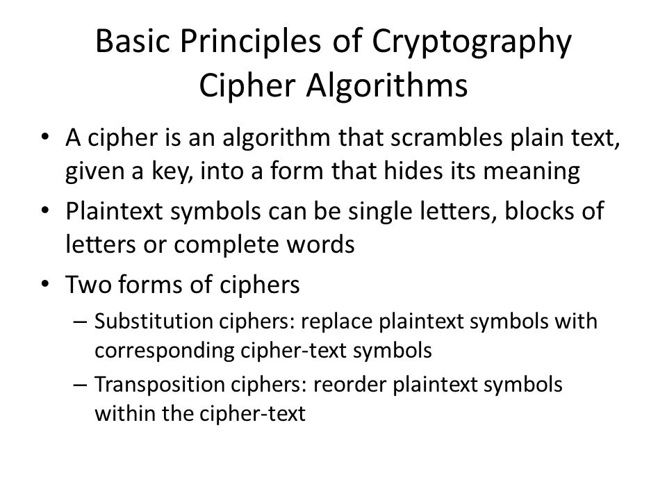 Cipher Blocks Of  Letters