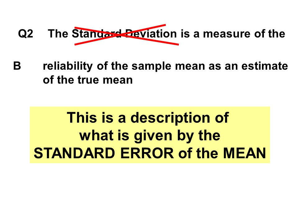 This is a description of STANDARD ERROR of the MEAN