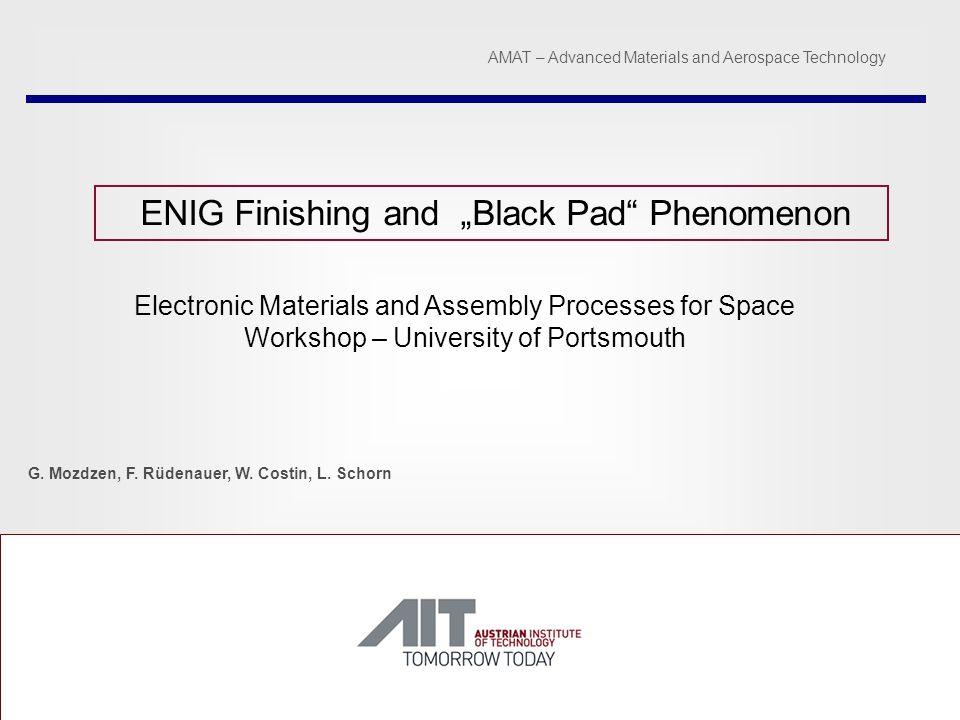 "ENIG Finishing and ""Black Pad Phenomenon"