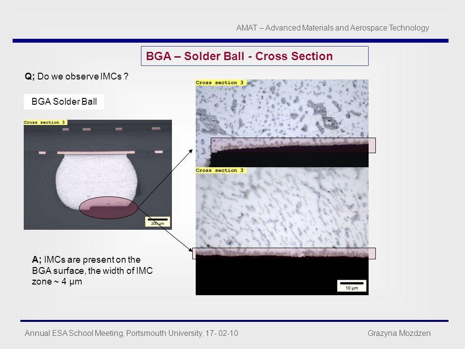 BGA – Solder Ball - Cross Section