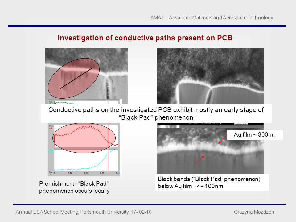 Investigation of conductive paths present on PCB