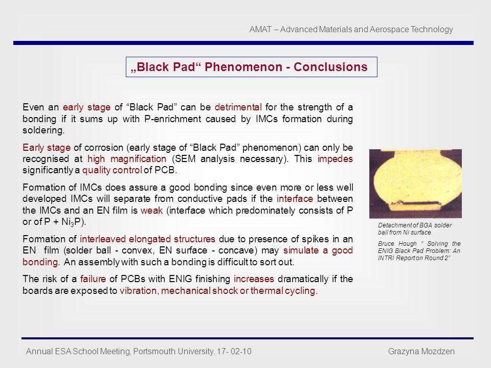 """""""Black Pad Phenomenon - Conclusions"""