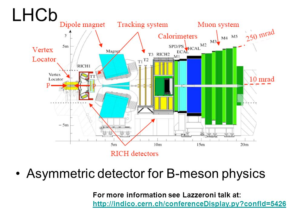 LHCb Asymmetric detector for B-meson physics