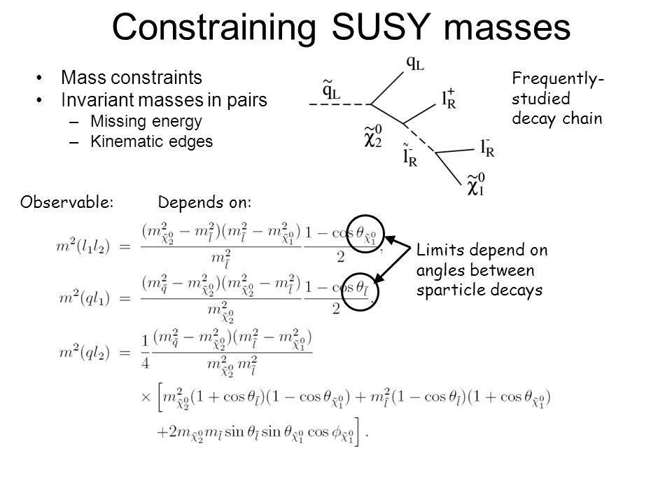 Constraining SUSY masses