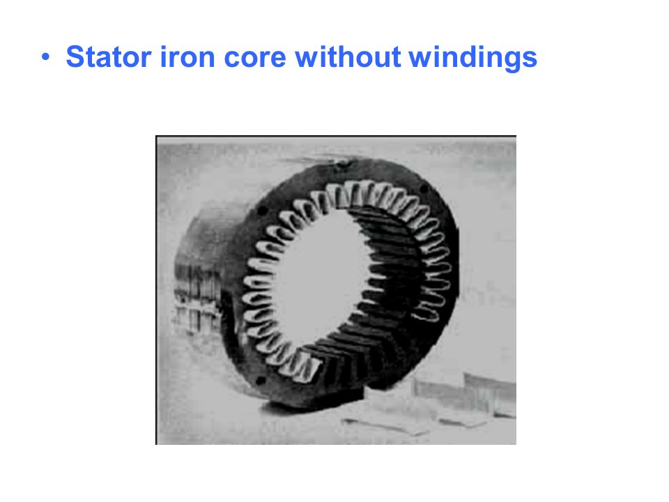 Stator iron core without windings