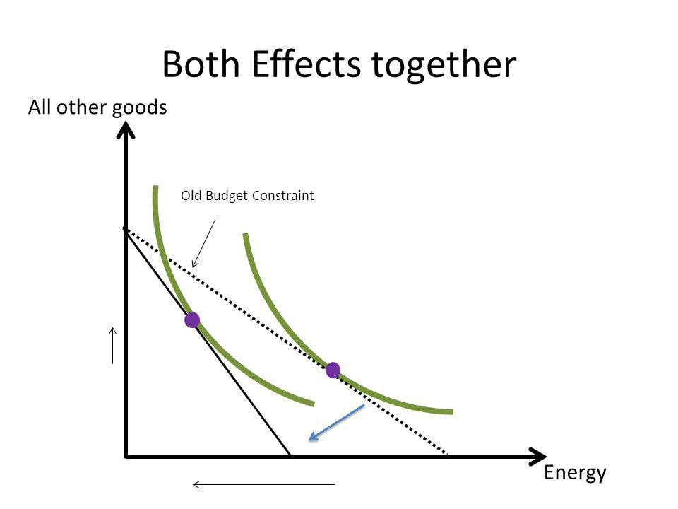Both Effects together All other goods Energy Old Budget Constraint