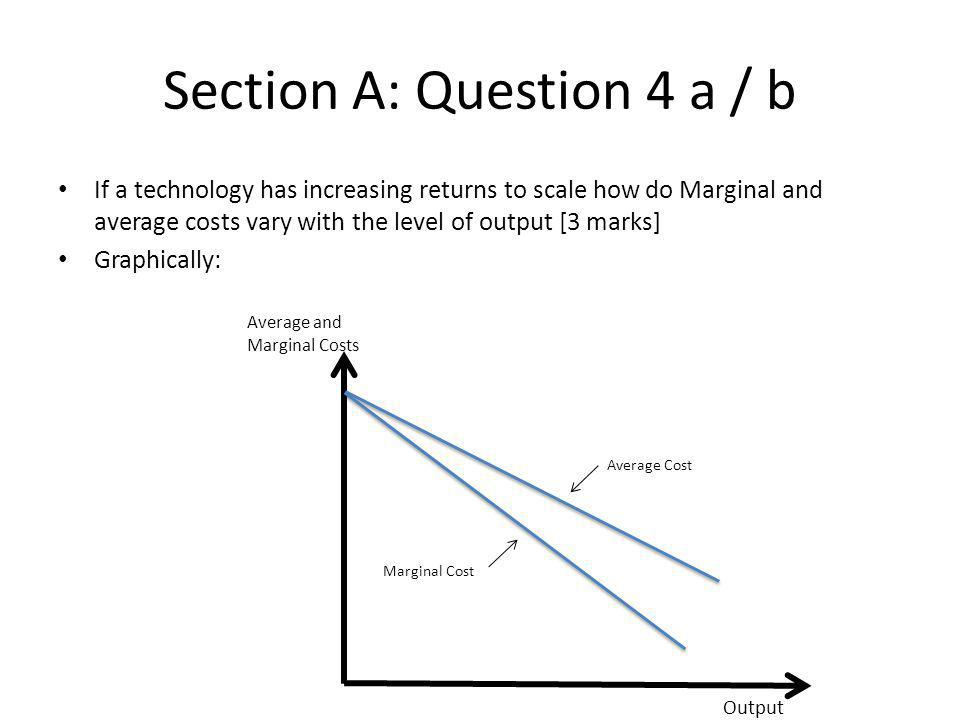 Section A: Question 4 a / b