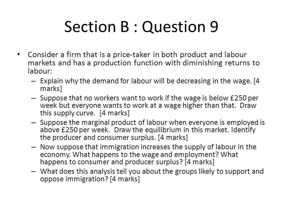 Section B : Question 9