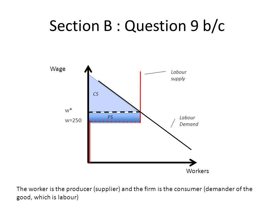 Section B : Question 9 b/c