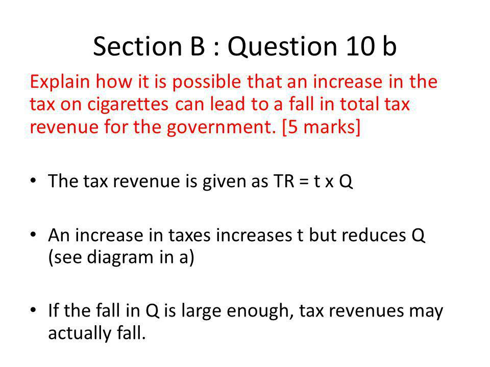 Section B : Question 10 b