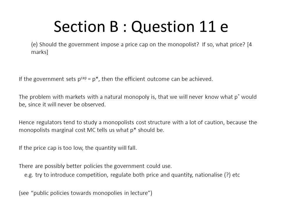 Section B : Question 11 e