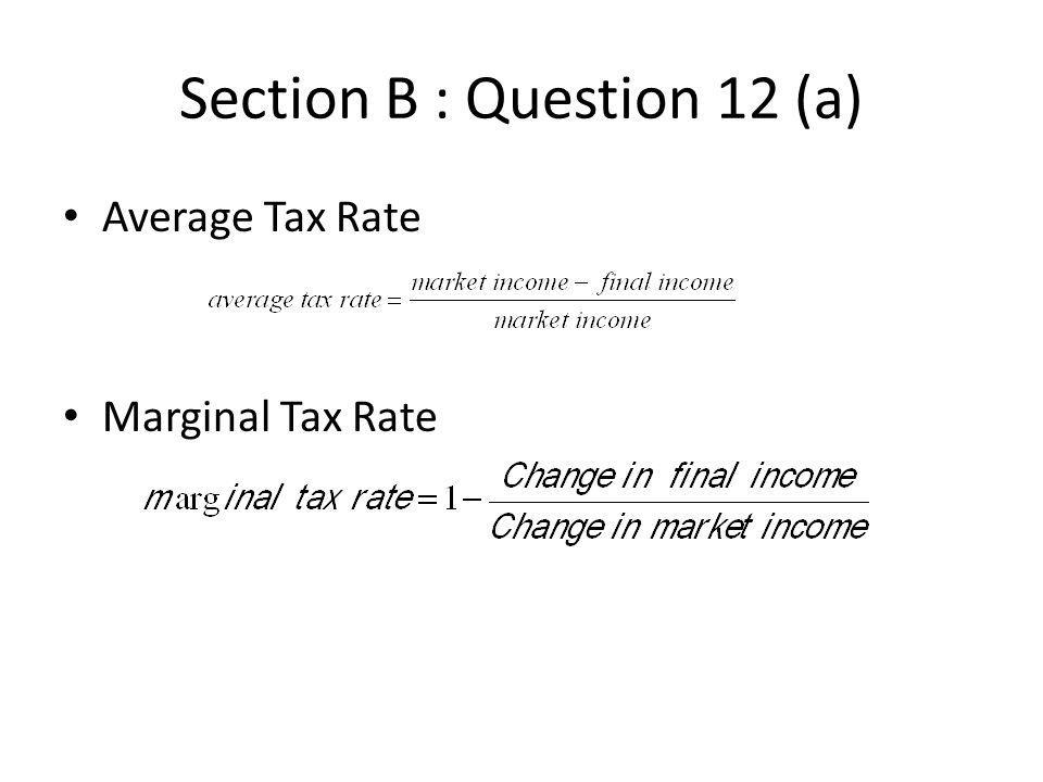 Section B : Question 12 (a)