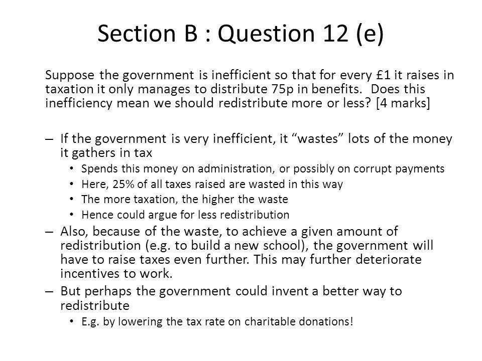 Section B : Question 12 (e)