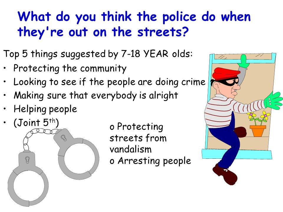 What do you think the police do when they re out on the streets