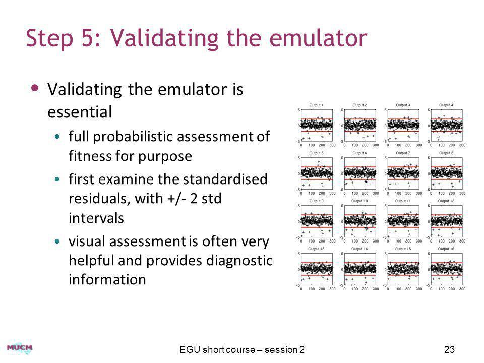 Step 5: Validating the emulator