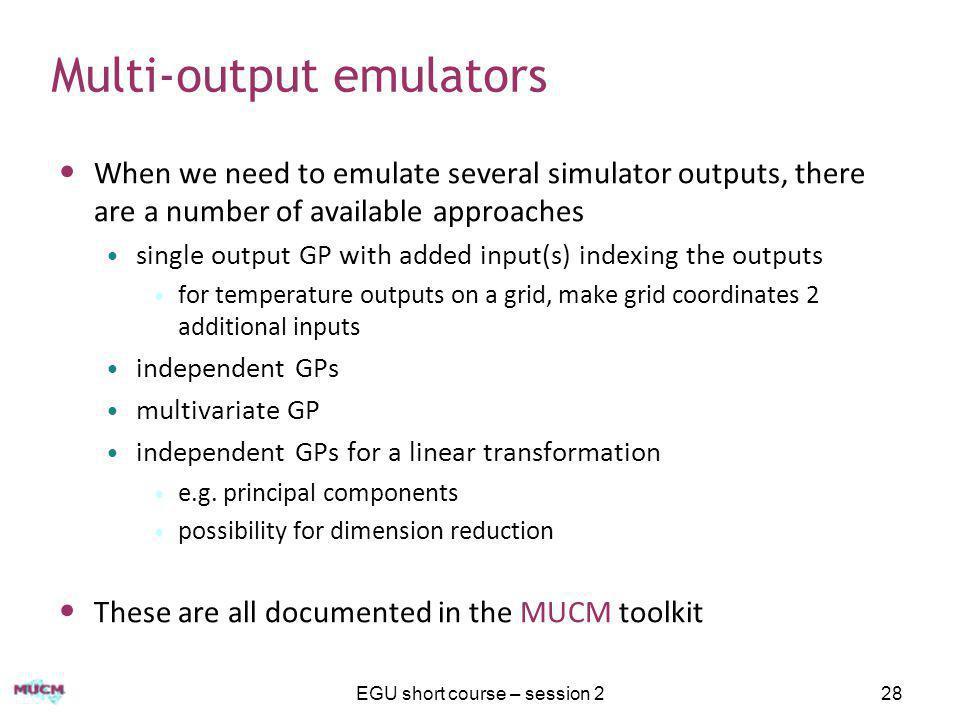Multi-output emulators