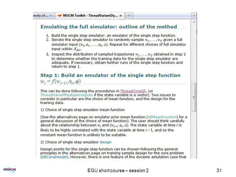 EGU short course – session 2