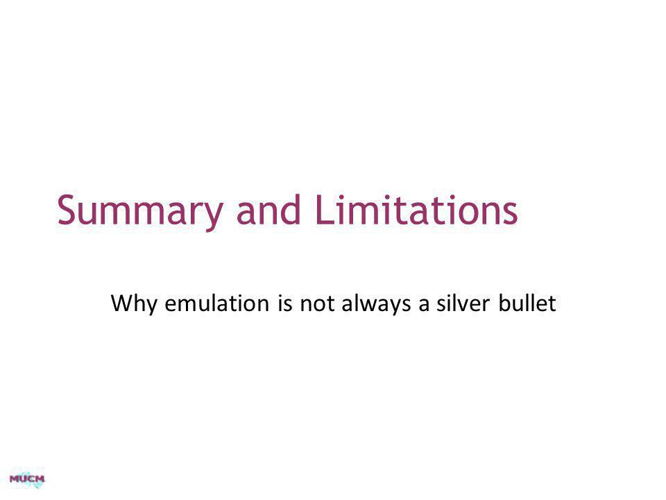 Summary and Limitations