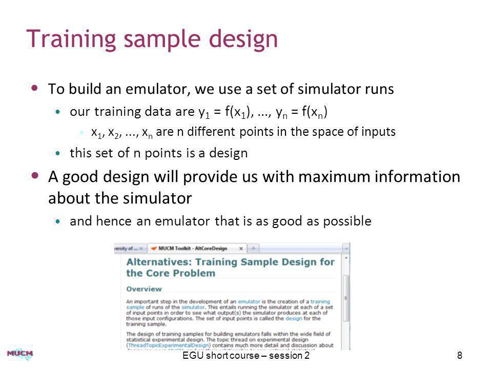 Training sample design