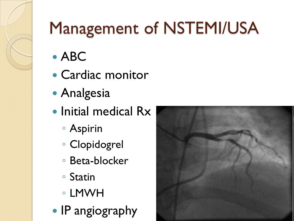Management of NSTEMI/USA