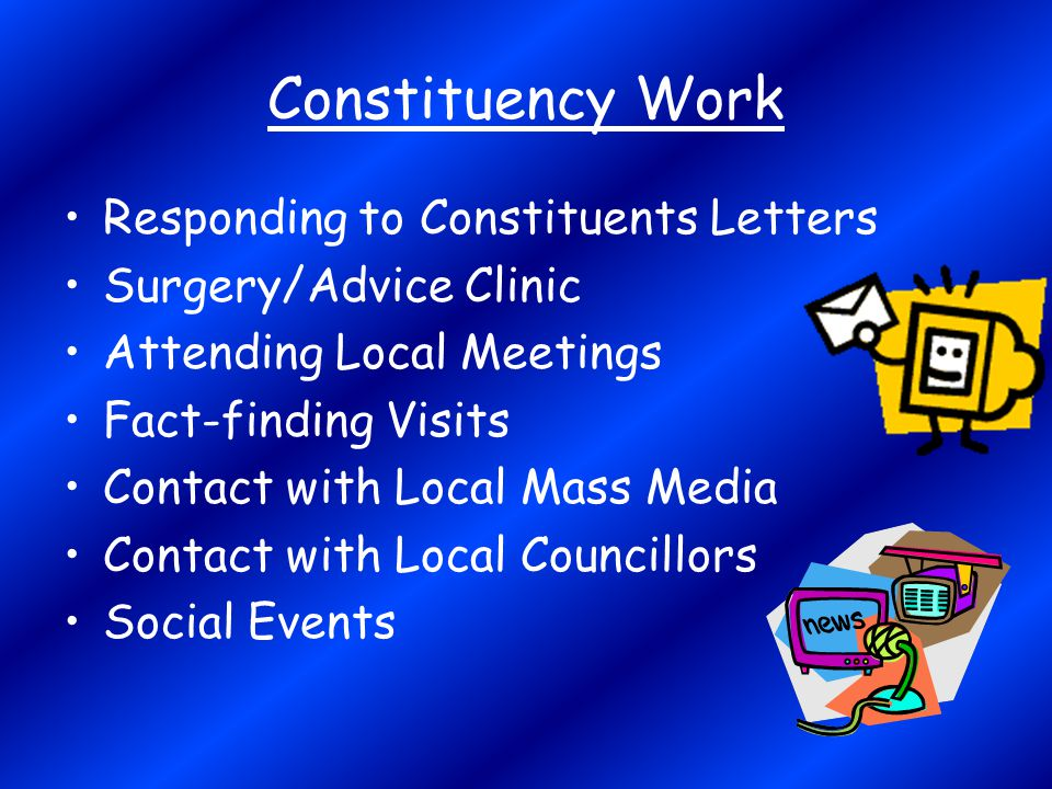 Constituency Work Responding to Constituents Letters